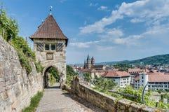 Neckarhaldentor dans Esslingen AM le Neckar, Allemagne photographie stock libre de droits