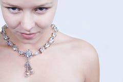 我的neckbrace 免版税库存照片