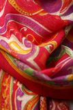 Neckerchief. Colorful wool material made in china Stock Image
