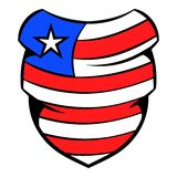 Neckerchief in USA flag colors icon cartoon Royalty Free Stock Photo