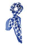 Neckerchief w błękitnych grochach na białym tle Obraz Royalty Free