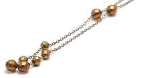 Necklace. Close up on pearls of a necklace Royalty Free Stock Photo