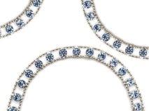 Necklace. Isolated on white background stock image