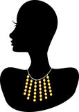 Necklace 4. Vector Illustration. Double Strand Jewelry design. Fully Editable Stock Photo