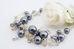 Necklace. A costume necklace with flower royalty free stock image