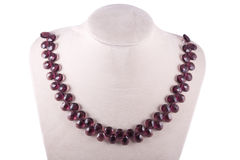 Necklace of amethyst Stock Photos