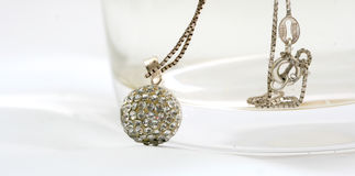 Necklace Ball With Gems Royalty Free Stock Photography