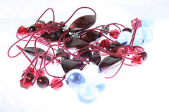 Necklace and balls Royalty Free Stock Photos