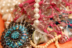 Necklace beads Stock Images