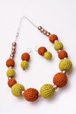 Necklace of beads knitted Stock Images