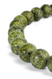 Necklace of beads of serpentine Royalty Free Stock Photo
