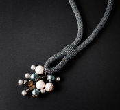Necklace on black background Royalty Free Stock Images