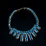 Necklace on a black background Royalty Free Stock Images
