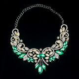 Necklace on a black background Royalty Free Stock Image