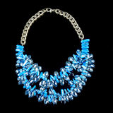 Necklace on a black background Royalty Free Stock Photography