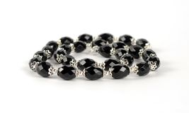 Necklace of black stones. Necklace of black stones Stock Image