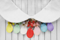 9c8daaa6b98eca Necklace on blouse stock photo. Image of decor, chic - 114532626