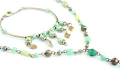 Necklace and bracelet Stock Photos