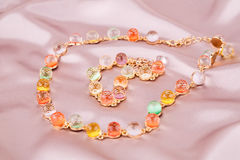 Necklace and bracelet Royalty Free Stock Image