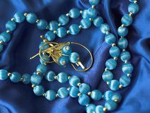 Necklace and brooch Stock Photos