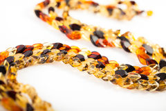 Necklace chain of amber Royalty Free Stock Photos