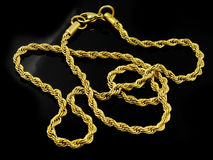 Necklace - Chain - Gold or silver. One color background stock photography
