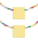 Necklace clips and post it Stock Images