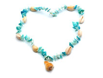 Necklace from cockleshells Stock Image