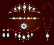 Necklace collection of tiaras Royalty Free Stock Images