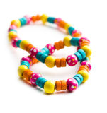 Necklace with colorful beads Royalty Free Stock Image