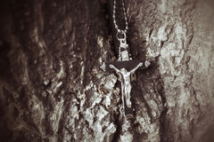 Necklace with cross Stock Image