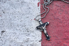 Necklace with cross Stock Photos