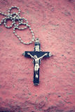 Necklace with cross Royalty Free Stock Image