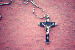 Necklace with cross Stock Images