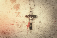 Necklace with cross Royalty Free Stock Images