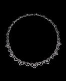Necklace with  diamonds Royalty Free Stock Image