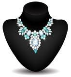Necklace of diamonds Stock Photos