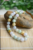 A necklace of different jade beads Royalty Free Stock Photo