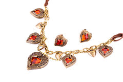 Necklace and earrings Stock Images