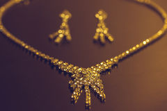 Necklace and earrings Royalty Free Stock Photo