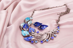 Necklace and earrings Royalty Free Stock Photos