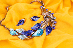 Necklace and earrings Royalty Free Stock Images