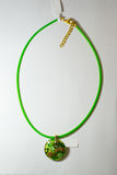 Necklace ethnic glass plastic Stock Images