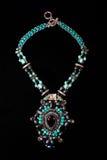 Necklace ethnic multicolored plastic Stock Photo