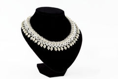 Necklace. Fashion necklace isolated on white background Stock Photos