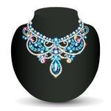 necklace female shiny beautiful wedding Stock Images