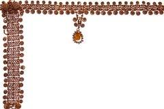 Necklace frame Stock Photos