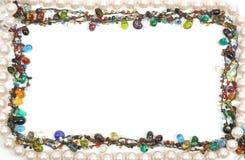 Necklace frame Royalty Free Stock Photos