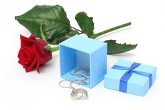 Necklace gift Royalty Free Stock Photos