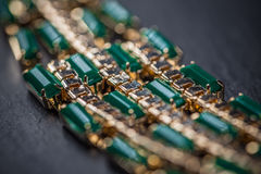 Necklace with green stones Royalty Free Stock Photos
